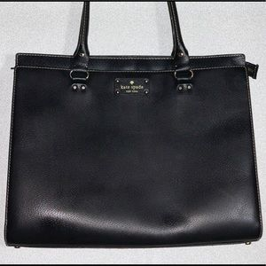 Large Kate Spade Black Leather Tote